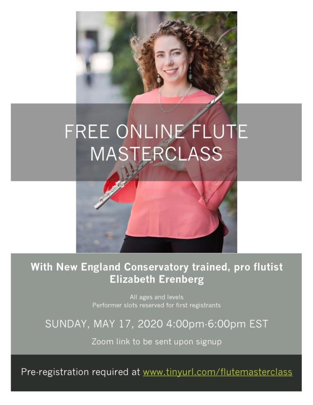 Online masterclass flyer